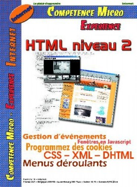Booklet's front page - HTML niveau 2