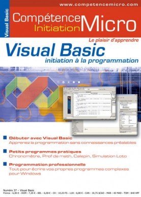 Booklet's front page - Visual Basic, initiation à la programmation