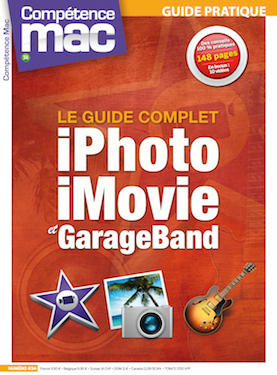Booklet's front page - Compétence Mac 34 • Le guide complet : iPhoto, iMovie et GarageBand