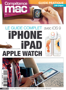 Booklet's front page - Compétence Mac 45 • Le guide complet iPhone iPad Apple Watch avec iOS 9